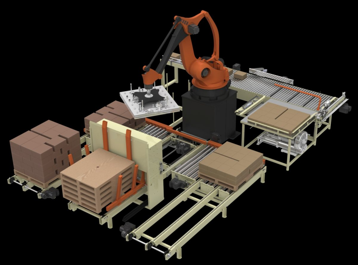 Advantage Fl 2x 1000 Full Layer Robotic Palletizing Cell
