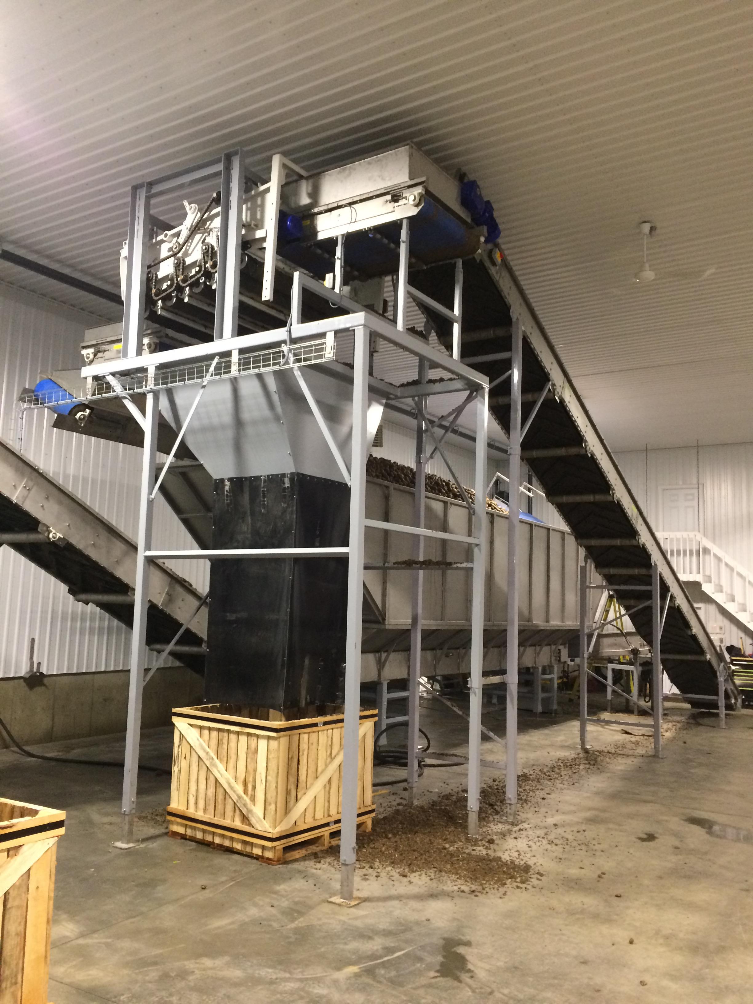 Potato processing machinery