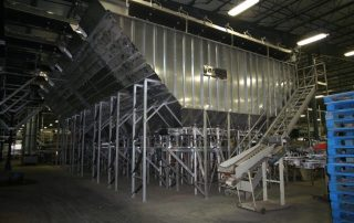 Evenflow bulk storage bin. Potato Processing Machinery