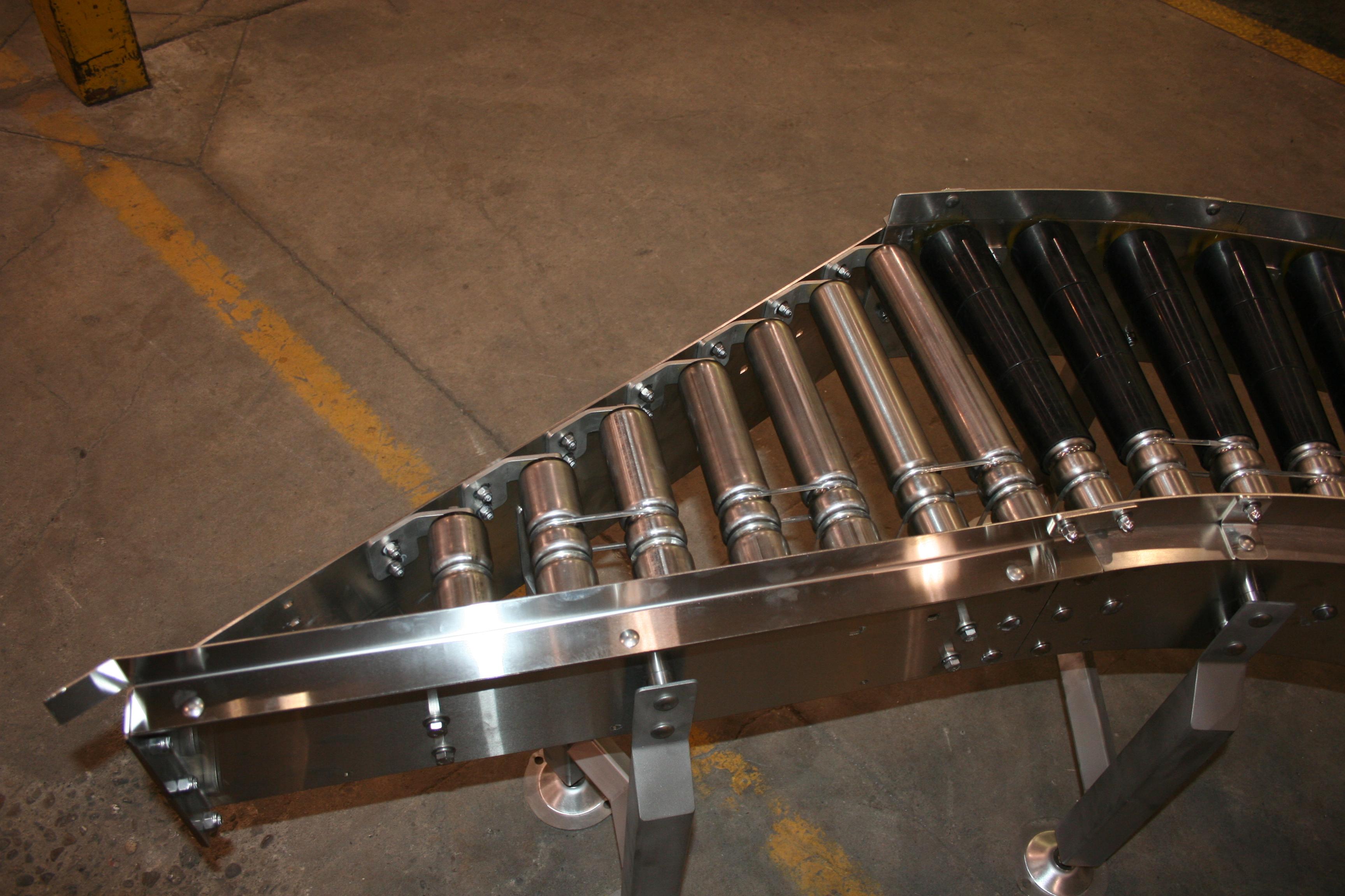 Stainless steel line shaft conveyor